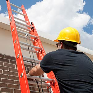 Sign Repairs - Ladder to Roof